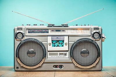 Leave a radio on